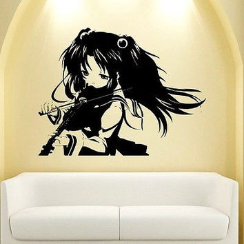 WALL VIINYL STICKER DECAL ART MURAL ANIME MANGA SEXY GIRL WITH VIOLIN d1648