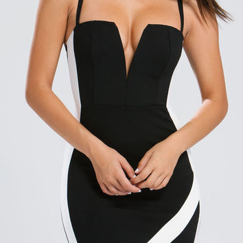 Equilibrium Mini Dress - Black