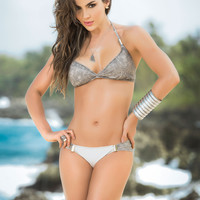 Glitter An Gold Makes This Bikini Stand Out-Colombian Bikini