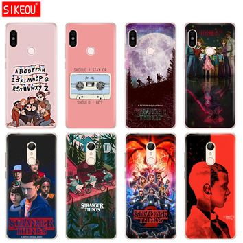 Silicone  Cover phone  Case for Xiaomi redmi 5 4 1 1s 2 3 3s pro PLUS redmi note 4 4X 4A 5A stranger things