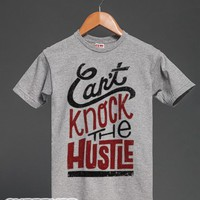 Can't Knock The Hustle Tee-Unisex Dark Ash T-Shirt