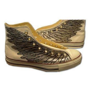 ICIKGQ8 hand painted converse sneakers wings