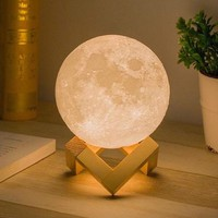 3D Magical Moon Lamp USB LED Night Light  8/10/13/15/18/20cm
