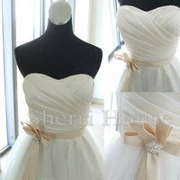 Ruffled Sweetheart Strapless Waistband Short Bridesmaid Celebrity dress ,Charmeuse Evening Party Prom Dress Homecoming Dress