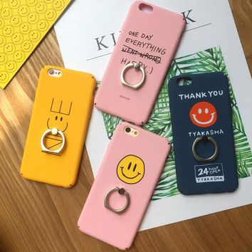Phone Cases For iPhone 6 6s 7 Plus Case Letter Smiling