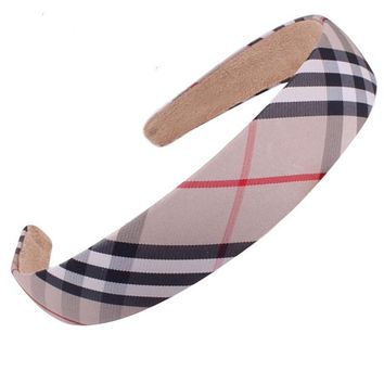 High Quality hair Accessoies women Brand Classical plaid headband Bowknot hairpins Girls headband barrettes Children hairbands