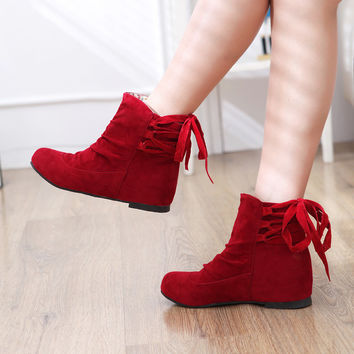 Tassel Ankle Boots Wedges Women Shoes