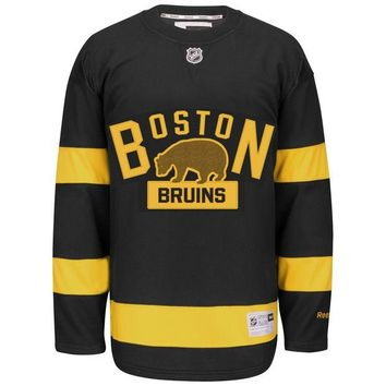 DCCK8X2 Boston Bruins 2016 NHL Winter Classic Premier YOUTH Replica Hockey Jersey