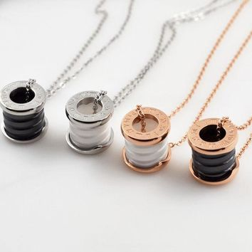 LMFON Shiny Gift Jewelry New Arrival Stylish Roman Ring Chain Necklace [10375462228]
