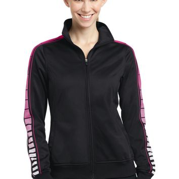 Sport-Tek Ladies Dot Sublimation Tricot Track Jacket. LST93