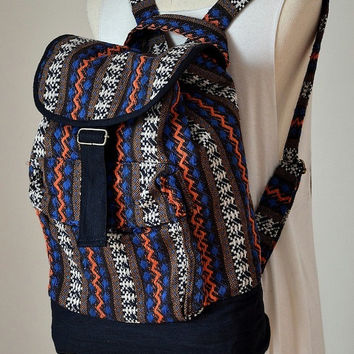 Nepali Hippie style backpack Boho Bohemian bag Book by Dollypun