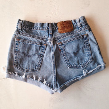 Levi High Waisted Shorts Denim Jean Shorts Size 8/9