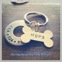 Hand Stamped Aluminum Dog Tag
