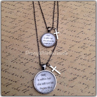 Psalm 46:5 Mommy And Me Necklaces, Scripture Necklaces, Mother Daughter, Mothers Day, Handmade, PennyWhistle