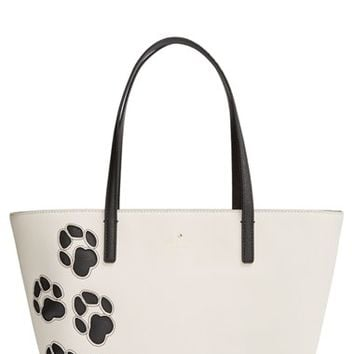kate spade new york 'cat's meow - small harmony' paw tote - Grey