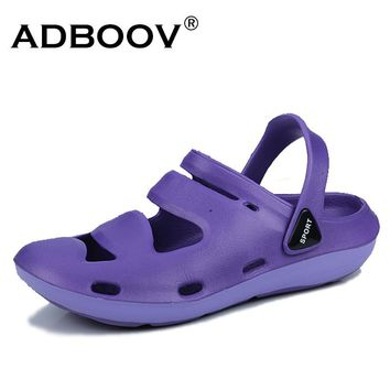 ADBOOV 2018 New Women's Sandals Lightweight Summer Shoes Woman Slides Beach Shoes Jelly Shoes Sandalias Zapatos Mujer Verano