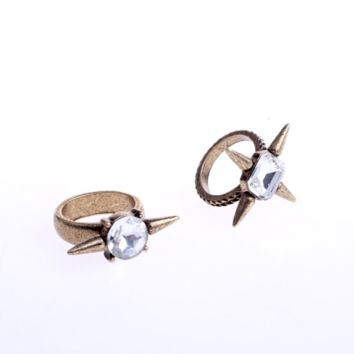 Retro fashion thorn and gem ring, ring joints,a perfect gift !