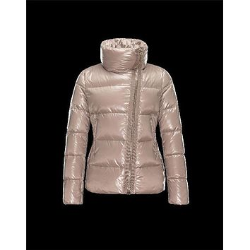 Moncler ILAY classic Turtleneck Dove grey Jackets Lacquered Nylon Womens 41456710GX