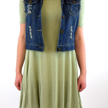 Madeline Swing Tunic - Sage Mint