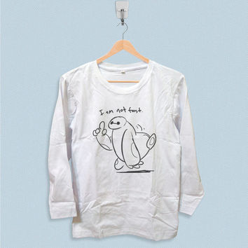 Long Sleeve T-shirt - I Am Not Fast Baymax Big Hero 6