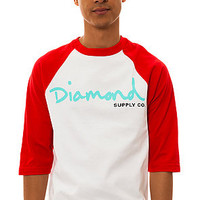 Diamond Supply Co. The OG Script Baseball Tee in Red and White : Karmaloop.com - Global Concrete Culture