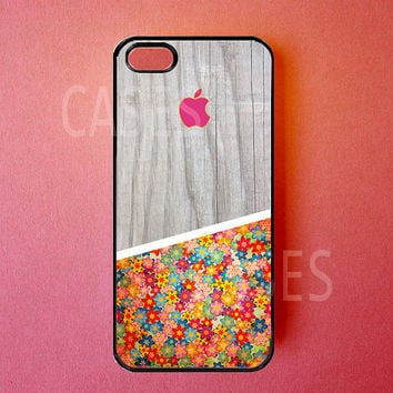 Iphone 5 Case Flowers Iphone Cover Stylish Wood by DzinerCases