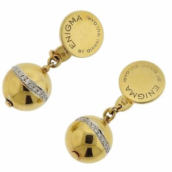 G. Bulgari Enigma Gold Diamond Ball Cufflinks