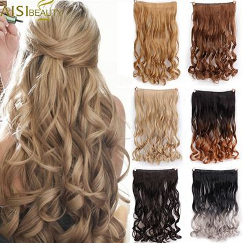 "AISI BEAUTY Synthetic Curly Hair Extensions 24"" 120g 5 Clips in One Piece High Temperature Fiber False for Women Free Shipping"