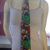 Nerdy neck tie in various fabric designs