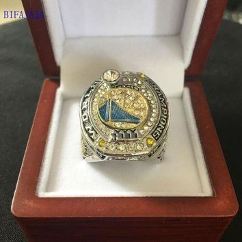PEAPGC3 BIFAJAJA Drop Shipping 2017 Golden State Warriors National Basketball Championship Ring Size Big  11 Men Sports Jewelry