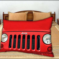 """Jeep Wrangler Red - 20 """" x 30 """" inch,Pillow Case and Pillow Cover."""
