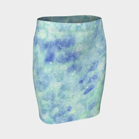Blue lagoon Fitted Skirt Fitted Skirt