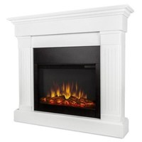 Real Flame Crawford Electric Slim Line Fireplace in White - Walmart.com