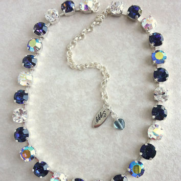 Swarovski crystal necklace, heliotrope, better than sabika, GREAT PRICE