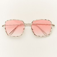 Pink Fade Square Sunglasses