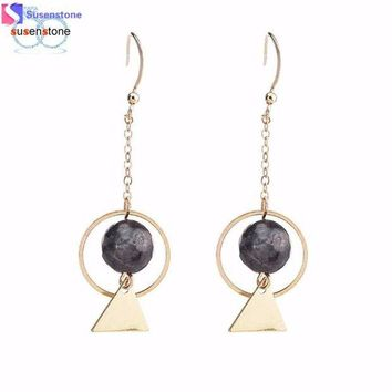 DCCKU7Q Fine earrings Hollow Retro Metall Bead Long Earring