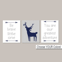Boy TRIBAL Nursery Wall Art Deer Nursery Decor Be Brave Little One Greatest Adventure Arrows Boy Woodland Nursery Set Of 3 Prints Or Canvas