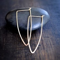 To the Point Hoop Earrings - Silver and Gold