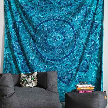 Magical Thinking Celeste Tie-Dye Tapestry- Blue One