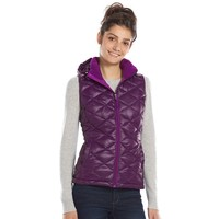 Tek Gear Hooded Packable Quilted Puffer Vest - Women's, Size: