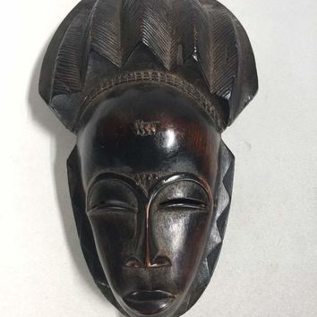 Contemporary African Carved Wood Mask