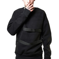 Strapped Sweater - Black