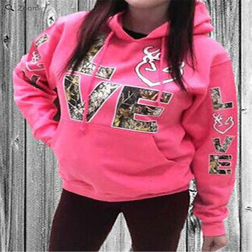 2017 Autumn Fashion Ladies Long Sleeve Letter Print Floral Hoodie Sweat shirt Hooded Coat Pullover Cotton Woman Sweatshirts