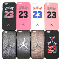 Fashion Michael Jordan 23 Chicago Hard Plastic Ultra Thin Back Cover for Apple iPhone 6 6s 4.7'' Air Jordan Slim Phone Case Skin