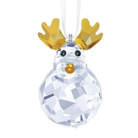 Swarovski Crystal Christmas Ornament ROCKING REINDEER #5189474