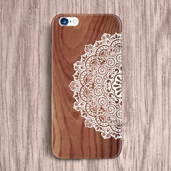 Lotus Mandala iPhone 6 plus iPhone 4 5 5s Case tribal rose ethnic Cute iPhone Cover Samsung Galaxy S5 mini S4 case Note 4 3 Wood Case [106]