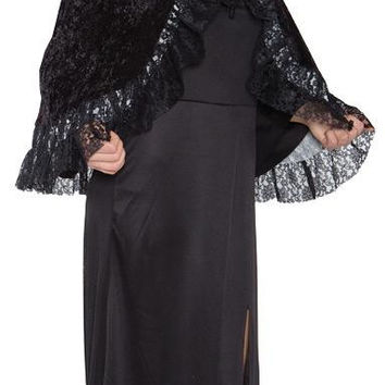 Lace Capelet Grey Adult
