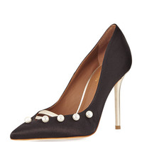 Malone Souliers Zia Pearly Satin Pump