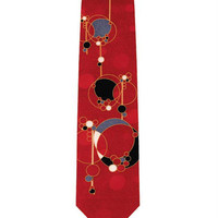 Frank Lloyd Wright March Balloons Red Silk Tie