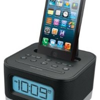 iHome iPL8BN Stereo FM Clock Radio with Lightning Dock for iPhone 5/5S and 6/6Plus